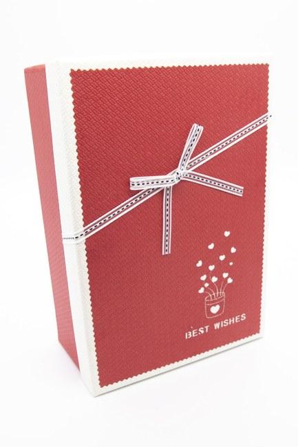 MIZALLE HOME Kırmızı Dikdörtgen Renkli Kutu (23x16)