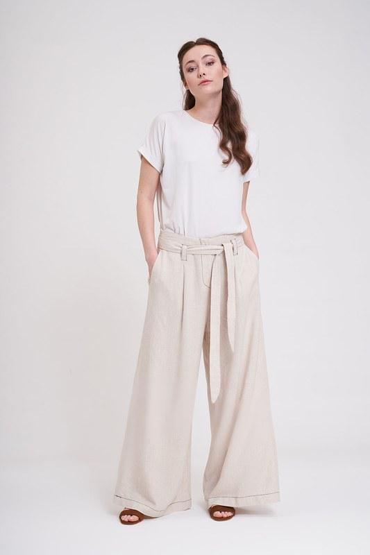 Dikiş Detaylı Pantolon (Bej)