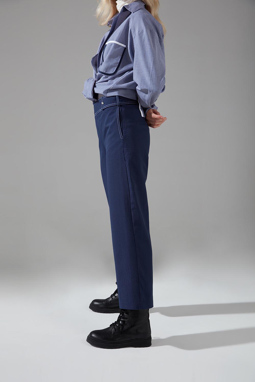 Dikiş Detaylı Pantolon (İndigo)