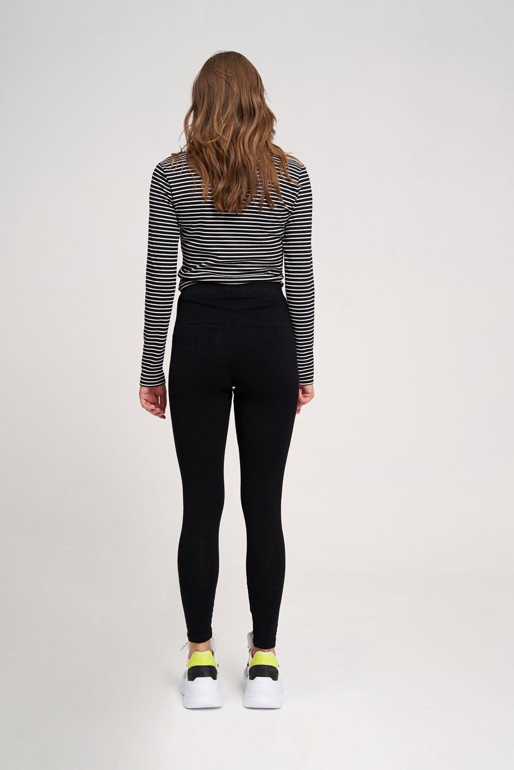 Dikiş Detaylı Tayt Pantolon (Siyah)