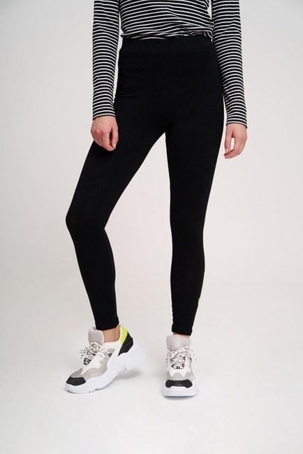MIZALLE YOUTH - Dikiş Detaylı Tayt Pantolon (Siyah) (1)