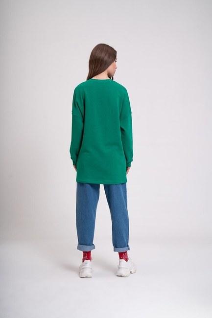 MIZALLE YOUTH - DNA Baskılı Sweatshirt (Yeşil) (1)