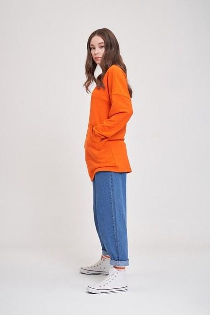 MIZALLE YOUTH - DNA Printed Sweatshirt (Orange) (1)