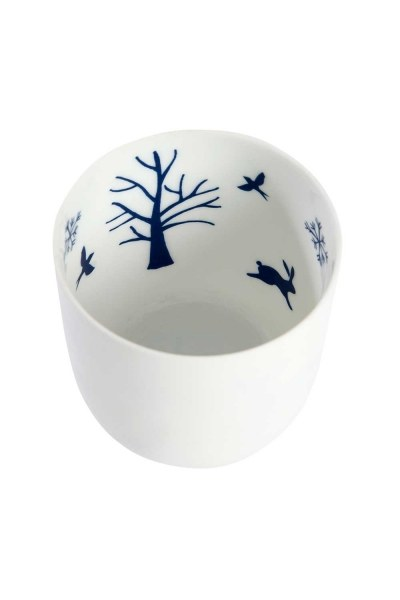 Ceramic Candle Holder With Nature Motives - Thumbnail