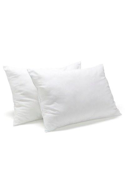 MIZALLE وسادة مملوءة بالدانتيل (35 × 55) أبيض