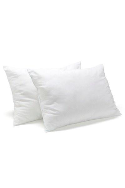 MIZALLE HOME - وسادة مملوءة بالدانتيل (35 × 55) أبيض (1)