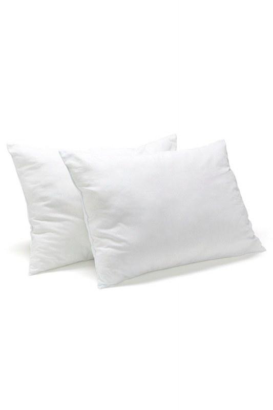 وسادة مملوءة بالدانتيل (35 × 55) أبيض