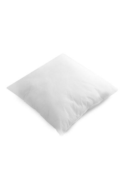 MIZALLE Dolgulu Kırlent Yastık 45X45 (Beyaz)