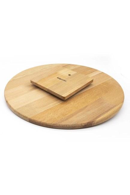 MIZALLE HOME - Dönen Bambu Sunum Tahtası (36x36) (1)