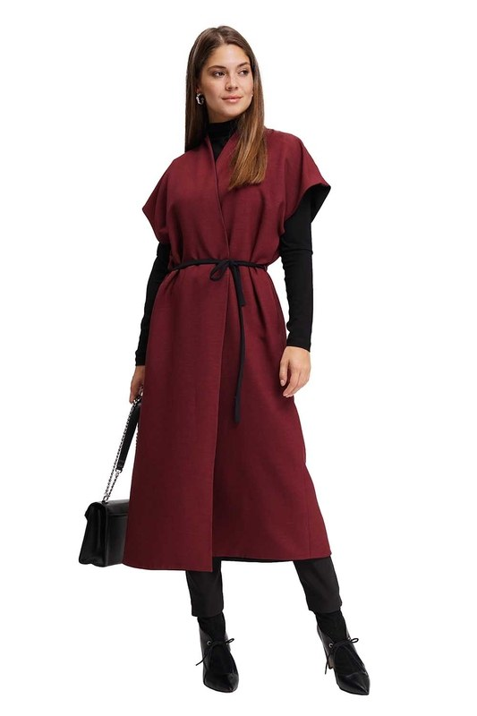 Double Sided Caftan (Claret Red)