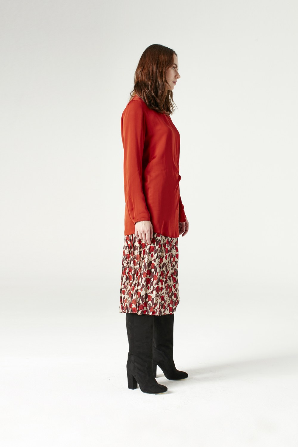 MIZALLE Knot Detailed Blouse (Claret Red) (1)