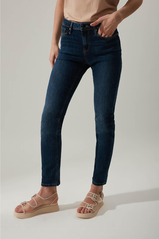 Düz Kesim Denim Mavi Pantolon