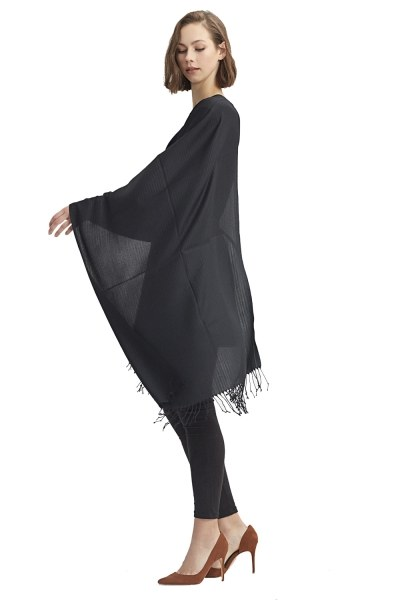 Plain Shawl (Black) - Thumbnail