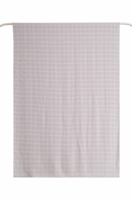 MIZALLE - Plaid Shawl (Light Grey) (1)