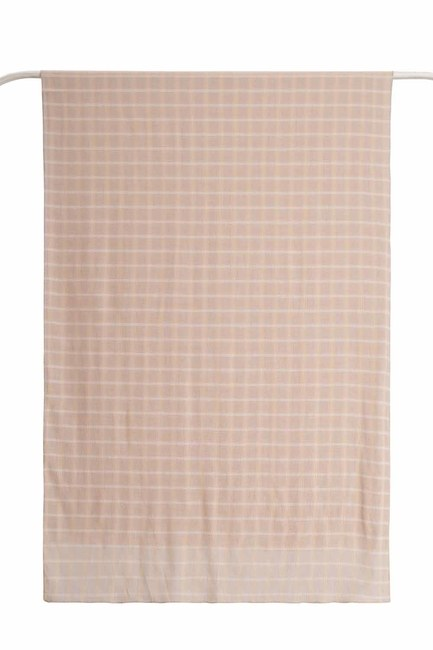 MIZALLE - Plaid Shawl (Beige) (1)