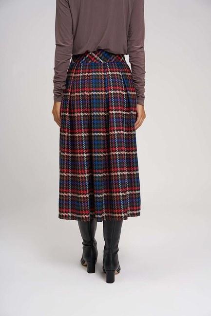 Plaid Multi Colored Skirt - Thumbnail