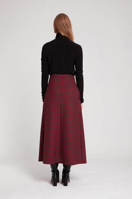 Plaid Skirt (Red) - Thumbnail
