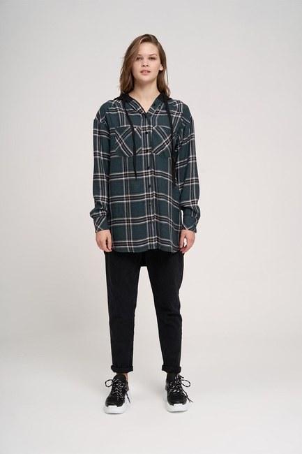 قميص مقنعين عادي (الأخضر) - Thumbnail