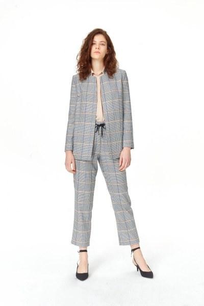Plaid Casual Jacket (Blue/Grey) - Thumbnail