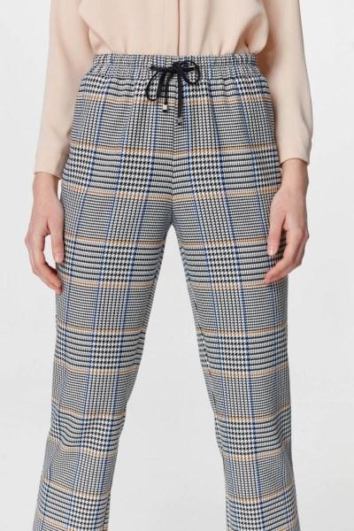 Ekose Rahat Pantolon (Mavi/Gri) - Thumbnail