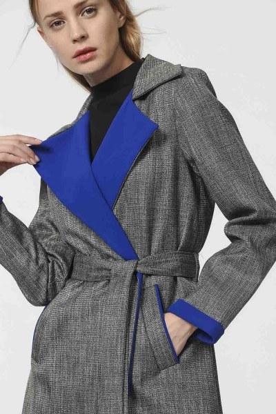 MIZALLE - معطف كروهات (أزرق) (1)