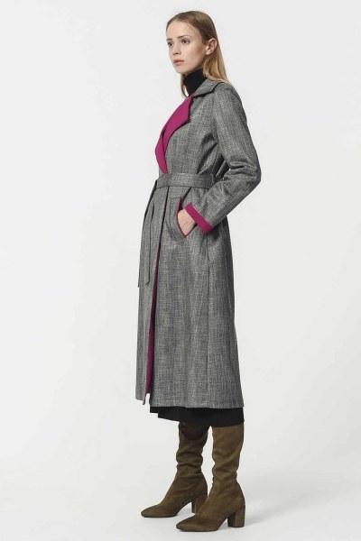 Plaid Trenchcoat (Purple) - Thumbnail