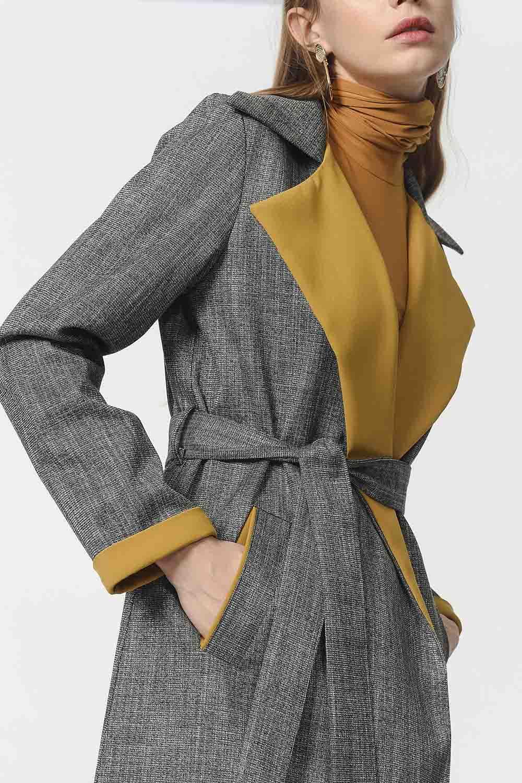 MIZALLE معطف كروهات (أخضر) (1)