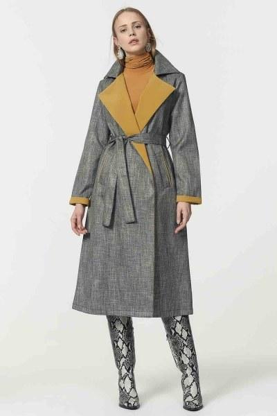 Plaid Trenchcoat (Green) - Thumbnail