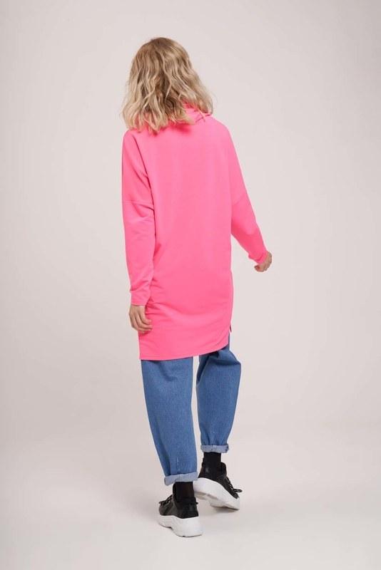 Emoje Baskılı Sweatshirt (Fuşya)