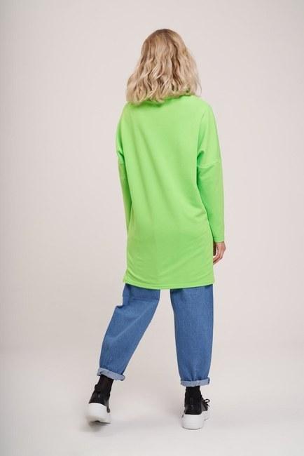 Emoji Baskılı Sweatshirt (Yeşil) - Thumbnail