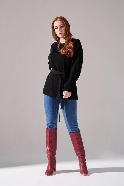 Mizalle - Balloon Sleeve Sweater (Black)