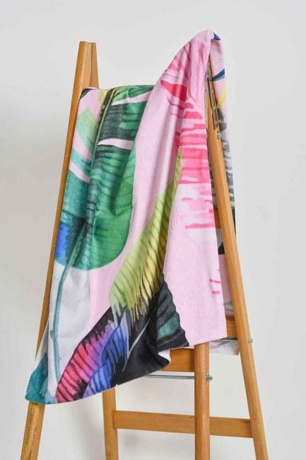 Mizalle Home - Beach Towel (Leaf)