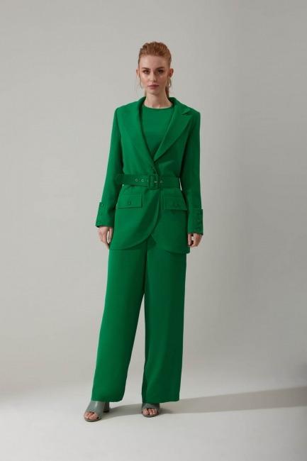 Mizalle - Belted Aerobin Jacket (Green)