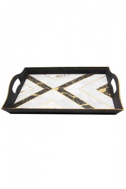Mizalle Home - Black Decorative Big Tray (Triangle Form)