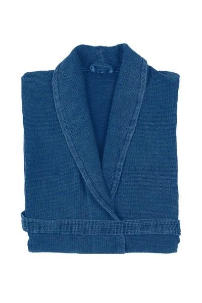 Mizalle Home - Blue Cotton Bathrobe