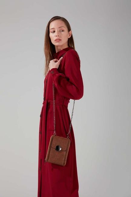 Mizalle - Buckled Shoulder Bag (Brown)