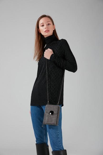 Mizalle - Buckled Shoulder Bag (Smoked)