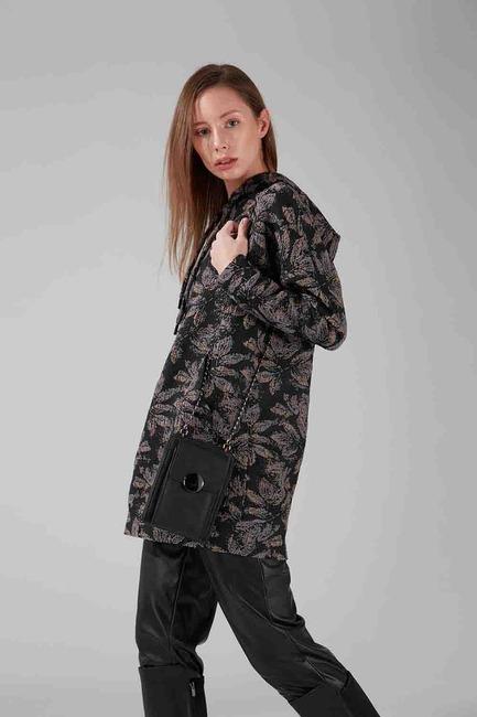 Mizalle - Buckled Shoulder Bag (Suede Black)