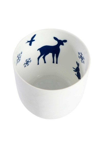 Mizalle Home - Ceramic Candle Holder With Nature Motives