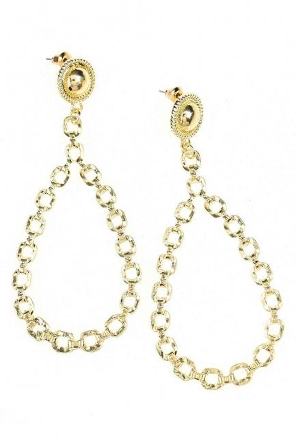 Mizalle - Dangling Chain Detailed Earrings (St)