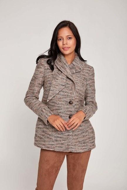 Mizalle - Design Short Coat (Beige)