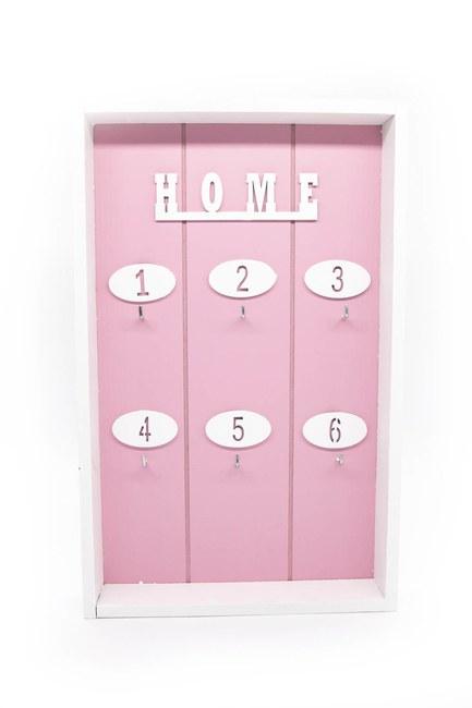 Mizalle Home - Design Wooden Keychain (Pink)