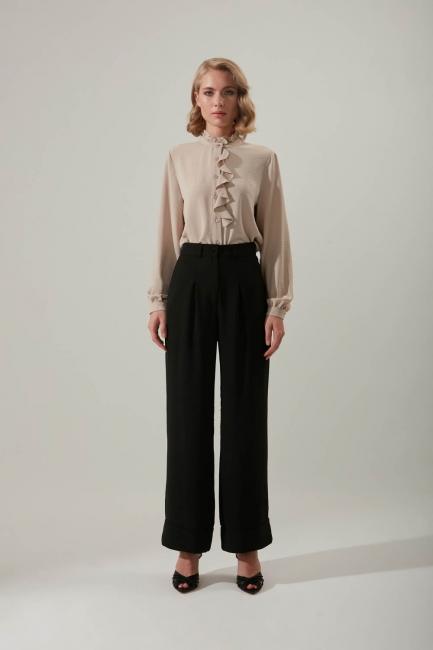 Mizalle - Double Leg Trousers (Black)