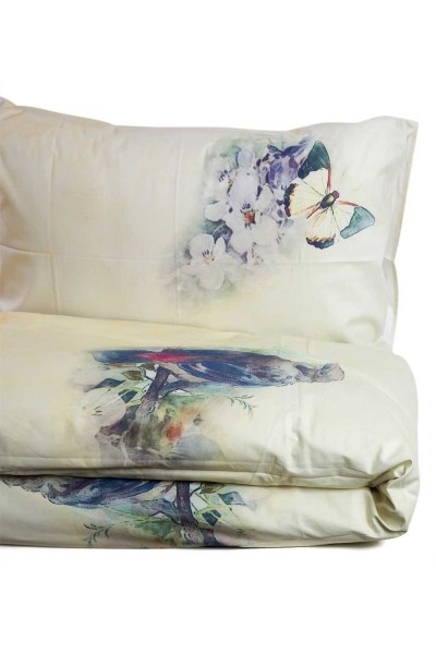 Mizalle Home - Double Linens Set With Blue Patterns (200X220)