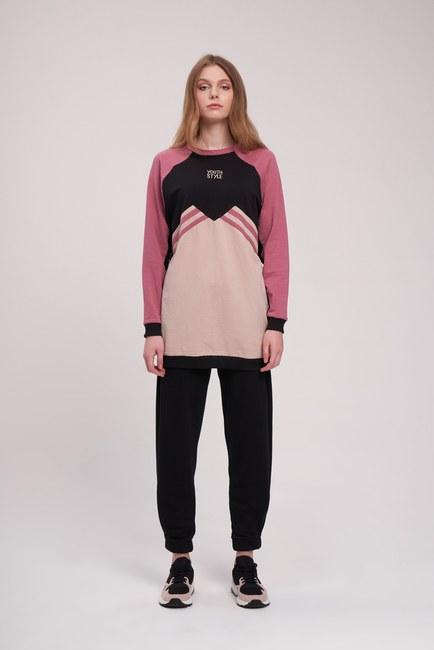 Mizalle - Embroidered Sweatshirt (Beige)