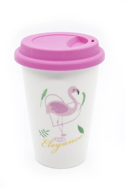 Mizalle Home - Flamingo Porcelain Mug (Pink)