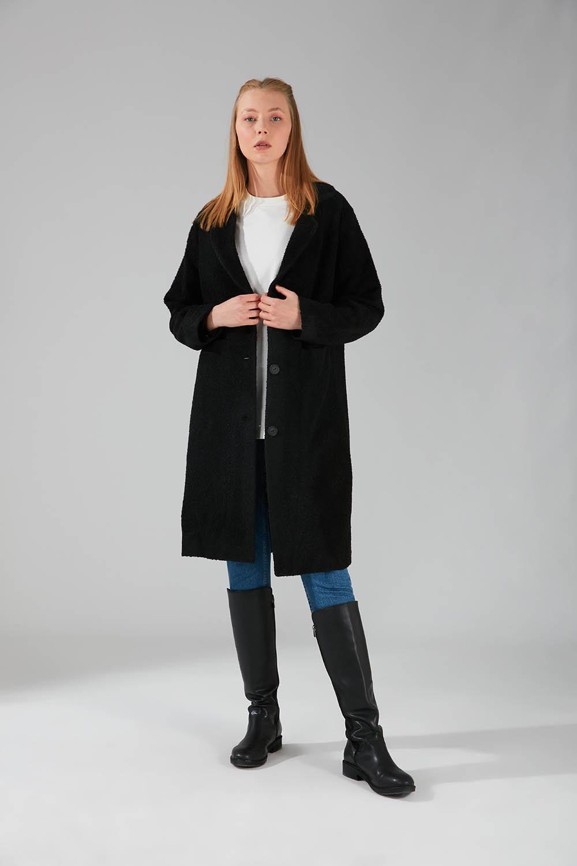 Mizalle - Flecked Coat (Black)