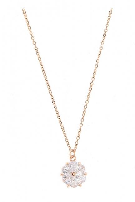 Mizalle - Flower Steel Necklace (St)