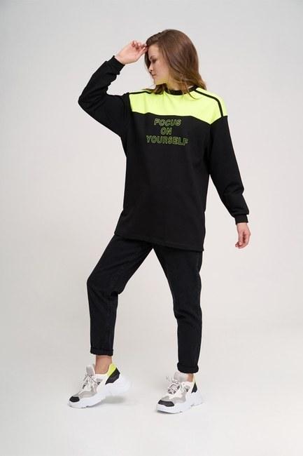 Mizalle - Focus Sweatshirt (Black)