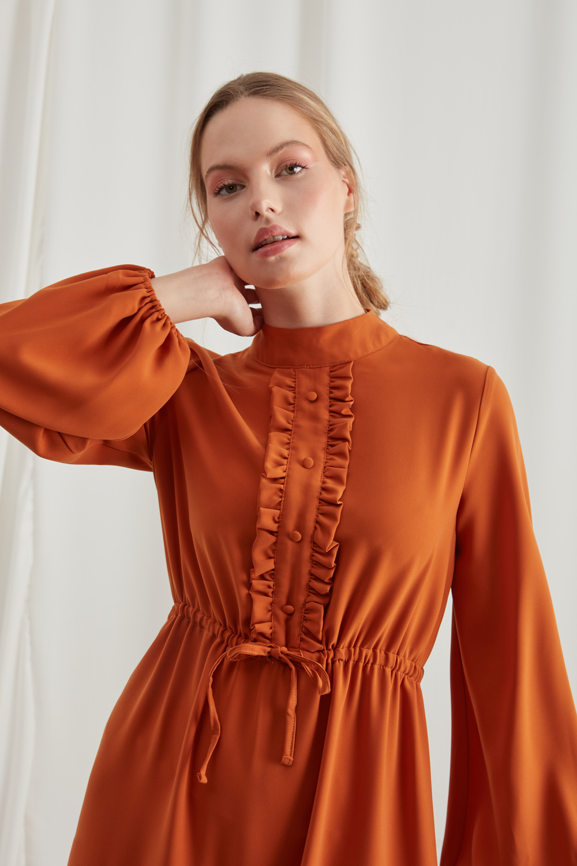Frilly Brick Dress